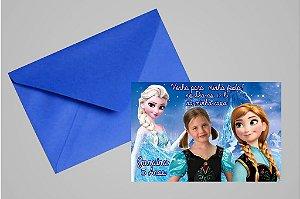 Convite 10x15 Frozen 005 com foto