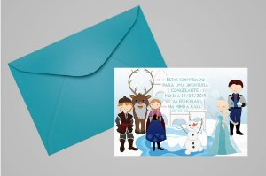 Convite 10x15 Frozen 007