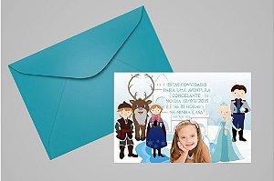 Convite 10x15 Frozen 007 com foto