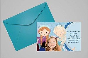 Convite 10x15 Frozen 009 com foto