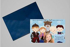 Convite 10x15 Frozen 010 com foto