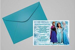 Convite 10x15 Frozen 012 com foto