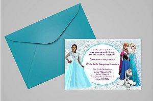Convite 10x15 Frozen 013 com foto