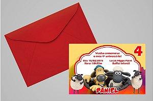Convite 10x15 Shaun, o Carneiro 002