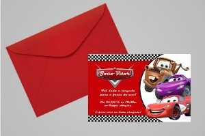 Convite 10x15 Carros da Disney 001