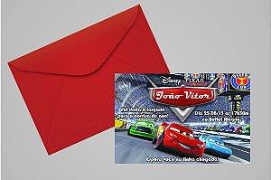 Convite 10x15 Carros da Disney 004