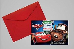 Convite 10x15 Carros da Disney 006
