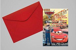 Convite 10x15 Carros da Disney 008 com foto
