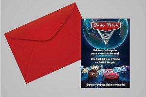 Convite 10x15 Carros da Disney 011