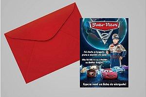 Convite 10x15 Carros da Disney 011 com foto