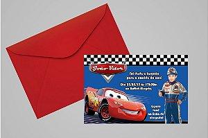 Convite 10x15 Carros da Disney 012 com foto