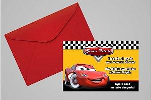 Convite 10x15 Carros da Disney 013