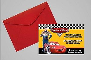 Convite 10x15 Carros da Disney 013 com foto