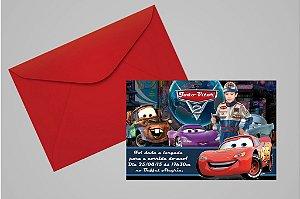 Convite 10x15 Carros da Disney 017 com foto