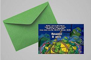 Convite 10x15 Tartarugas Ninja 003