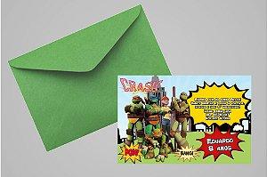 Convite 10x15 Tartarugas Ninja 005