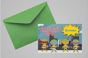 Convite 10x15 Tartarugas Ninja 006