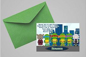 Convite 10x15 Tartarugas Ninja 007