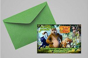 Convite 10x15 Mogli, O Menino Lobo 002