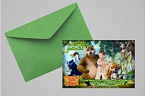 Convite 10x15 Mogli, O Menino Lobo 002 com foto