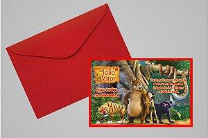 Convite 10x15 Mogli, O Menino Lobo 007