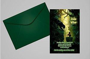 Convite 10x15 Mogli, O Menino Lobo 009