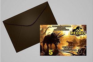 Convite 10x15 Jurassic Park: O Parque dos Dinossauros 002
