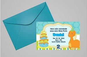 Convite 10x15 Dinossauros 007