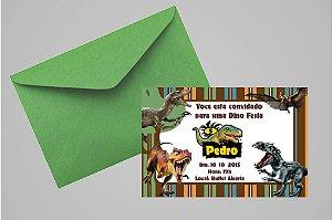 Convite 10x15 Dinossauros 009