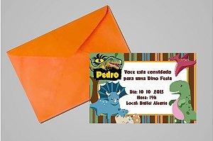 Convite 10x15 Dinossauros 010