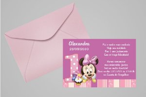Convite 10x15 Baby Disney 025