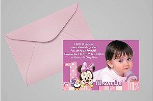 Convite 10x15 Baby Disney 025 com foto
