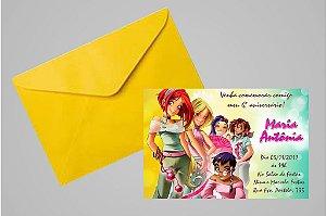 Convite 10x15 W.I.T.C.H. 003