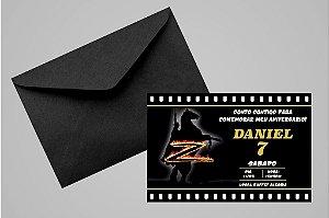 Convite 10x15 Zorro 002