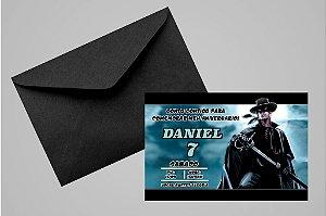 Convite 10x15 Zorro 003
