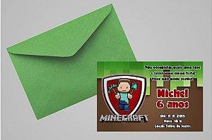 Convite 10x15 Minecraft 001