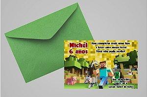 Convite 10x15 Minecraft 002