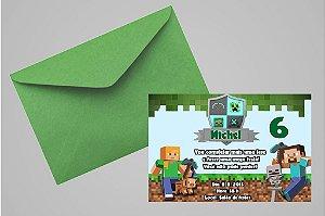 Convite 10x15 Minecraft 004