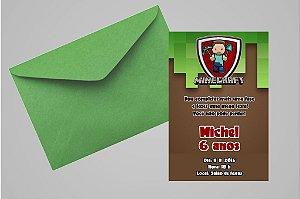 Convite 10x15 Minecraft 005