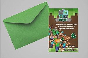 Convite 10x15 Minecraft 007