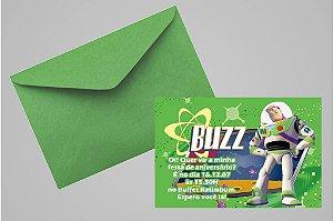 Convite 10x15 Buzz Lightyear Toy Story 006