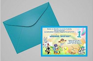 Convite 10x15 Baby Looney Tunes 001