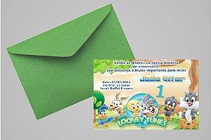 Convite 10x15 Baby Looney Tunes 005