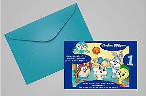 Convite 10x15 Baby Looney Tunes 006