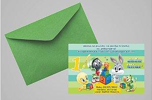 Convite 10x15 Baby Looney Tunes 008