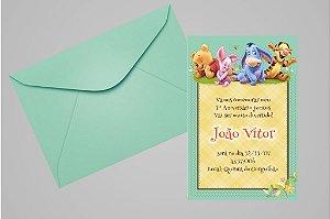 Convite 10x15 Baby Pooh 006
