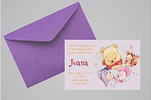 Convite 10x15 Baby Pooh 009