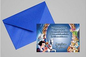 Convite 10x15 Branca de Neve 003