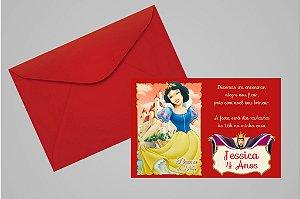 Convite 10x15 Branca de Neve 012