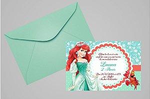 Convite 10x15 Pequena Sereia 001